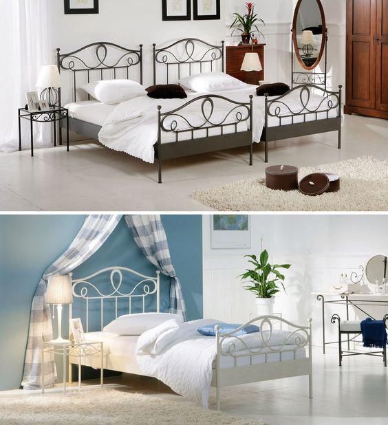 Bett  - schlafzimmer mit metallbett