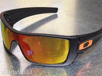 oakley batwolf polarised sunglasses  new oakley batwolf polarized sunglasses matte black / fire iridium + extra icons