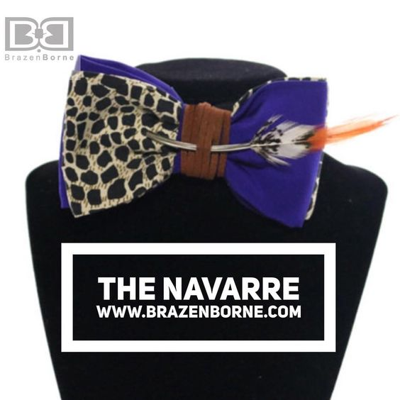 Brazen Borne™  T H E  N A V A R R E [Limited Edition] Bow tie. Get airborne with our latest feathered friend! Take flight, you Brazen trendsetter!