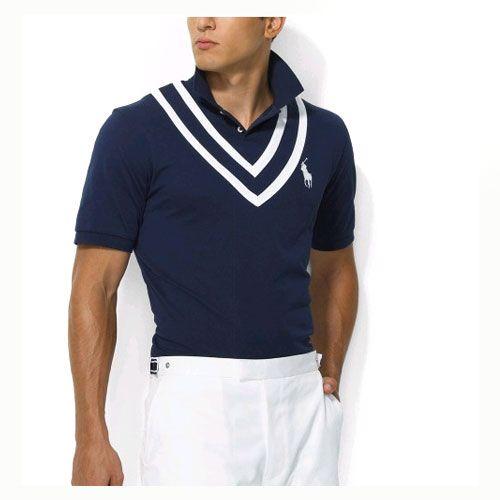 avy Ralph Lauren Mens Breathable Cotton Short-sleeved Polo