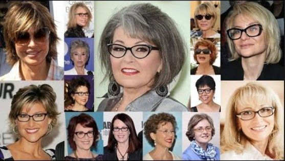 30 Best Medium Length Hairstyles For Over 50 With Glasses With