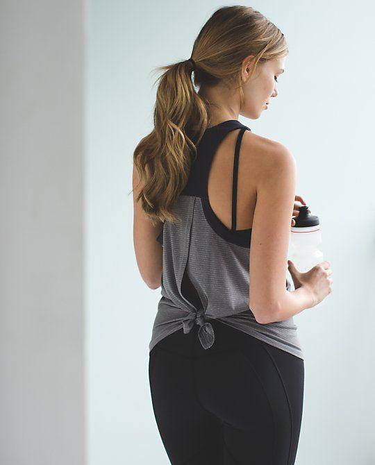 Cute Tie-back Yoga Tank Http://rstyle.me/n/skwvir9te
