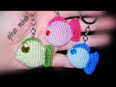 طريقة عمل ميدالية كروشيه على شكل سمك ملون مجسم Youtube Baby Cocoon Pattern Crochet Crochet Earrings