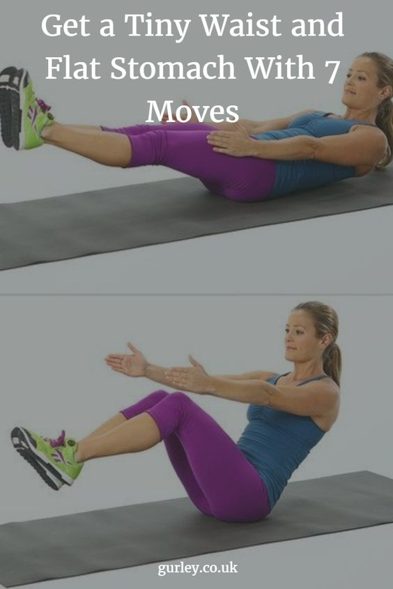 Get a Tiny Waist and Flat Stomach With 7 Moves
