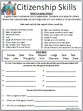 Printables Citizenship Worksheets student the ojays and citizenship on pinterest skills