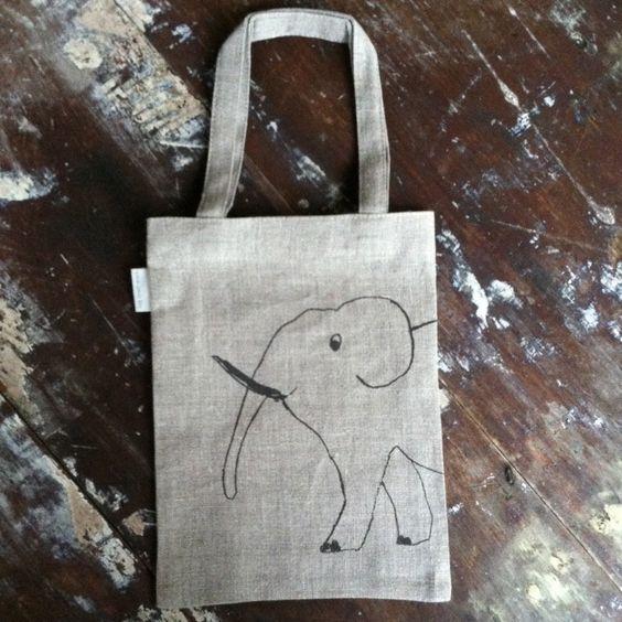 Animal Print Bag: Elephant