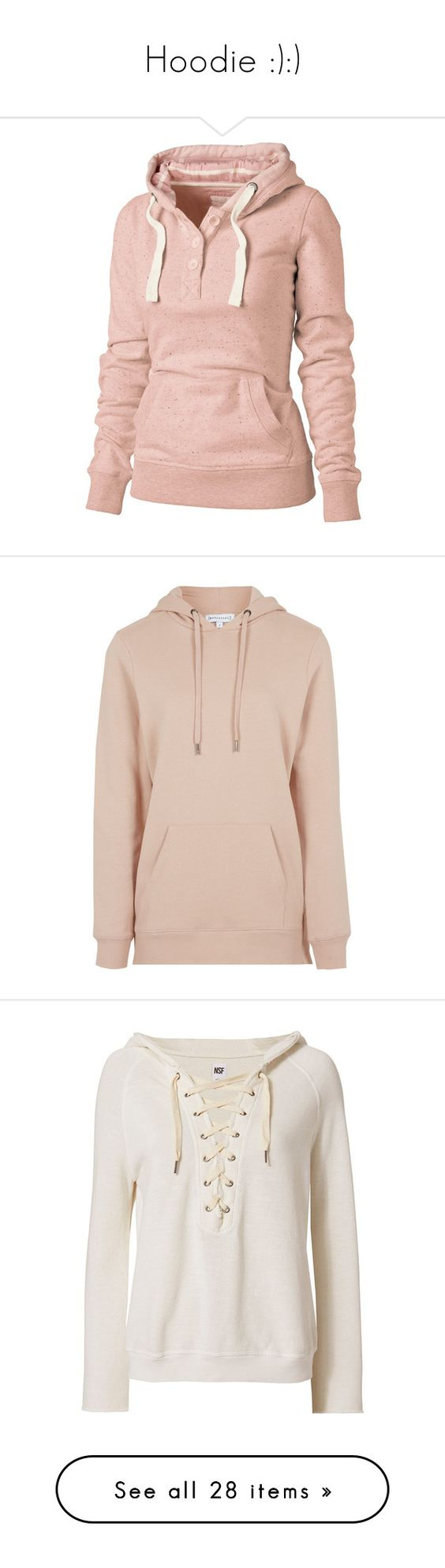 """""""Hoodie :):)"""" by somethinglikelove ❤ liked on Polyvore featuring tops, hoodies, jackets, sweaters, sweatshirts, women, drawstring hooded pullover, cotton hoodies, hooded pullover and drawstring hoodie"""