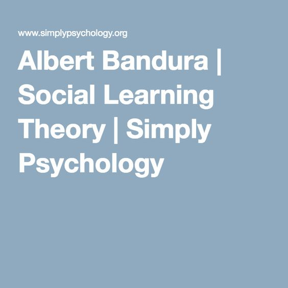 bandura theory of learning 1 social learning theory • albert bandura was the major motivator behind social learning theory one of the main things that he was concerned with was how cognitive factors influence.