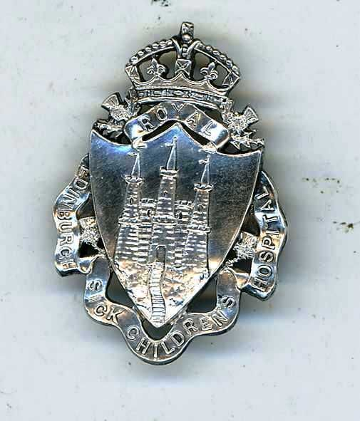 ROYAL+EDINBURGH+SICK+CHILDRENS++HOSPITAL+SILVER+NURSING+BADGE+1895