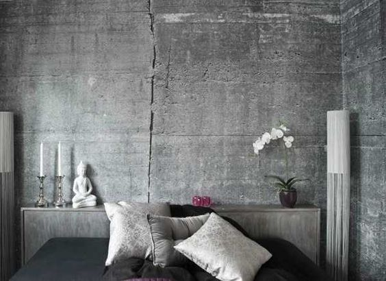 modern wallpaper patterns for creating realistic concrete wall design in gray color