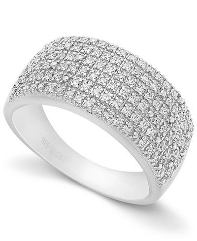 Pave Diamond Ring in Sterling Silver (1/2 ct. t.w.)