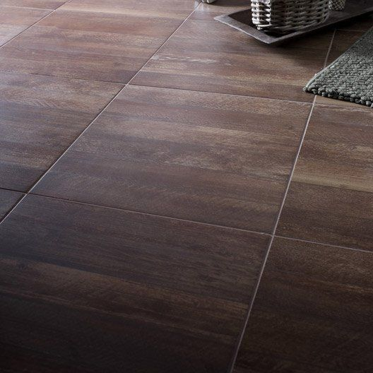 Ps interieur and laos on pinterest for Carrelage marron