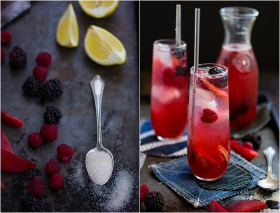 Berry, Plum, and Rose Sangría | Drinks | Pinterest | Rose Sangria ...