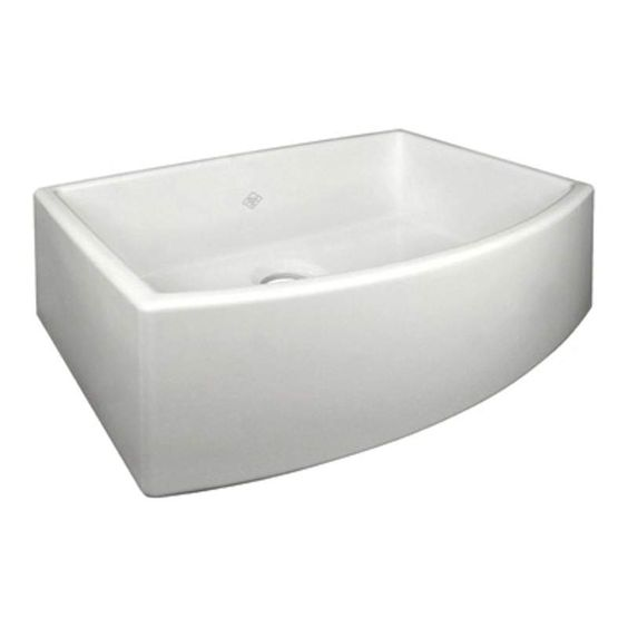 """1316 too, View the Rohl RC3021 Shaws Waterside 27-1/2"""" Single Basin Farmhouse Fireclay Apron Kitchen Sink at Build.com."""