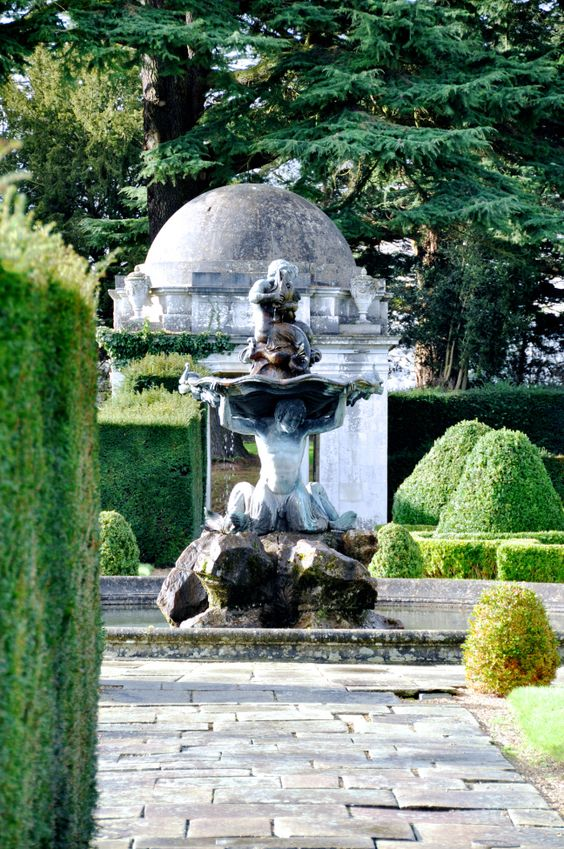 Gardens designed by Capability Brown at Luton Hoo in Bedfordshire