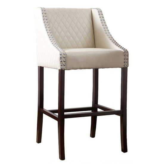 Lglimitlessdesign Contest Lawson White Quilted Leather Bar Stool