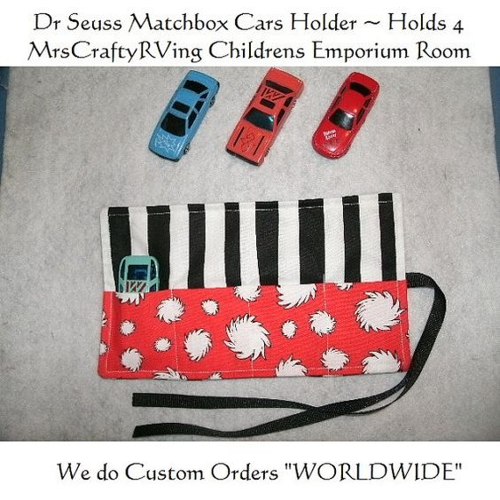 Cat and the Hat MatchBox Car Roll Party Favor by MrsCraftyRVing, $4.00
