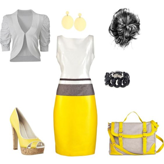 Ray of Sunshine work attire, created by niki-jones on Polyvore
