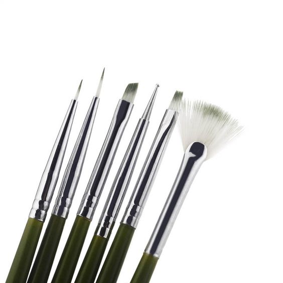 New 6Pcs Nail Brush Nail Art Design Painting Tool Pen Polish Brush Set Kit DIY Professional Nail Tools