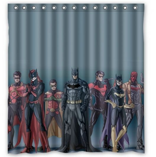 Top Justice League Bathroom Decor Kids Shower Curtain Superhero