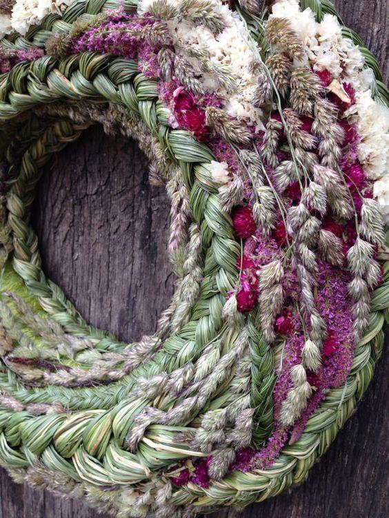 Summer wreath Home Decor Spring Wreath by CadeauDeLaNature                                                                                                                                                      More