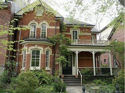 Another Cabbagetown landmark Victorian home across from the park on Carlton East