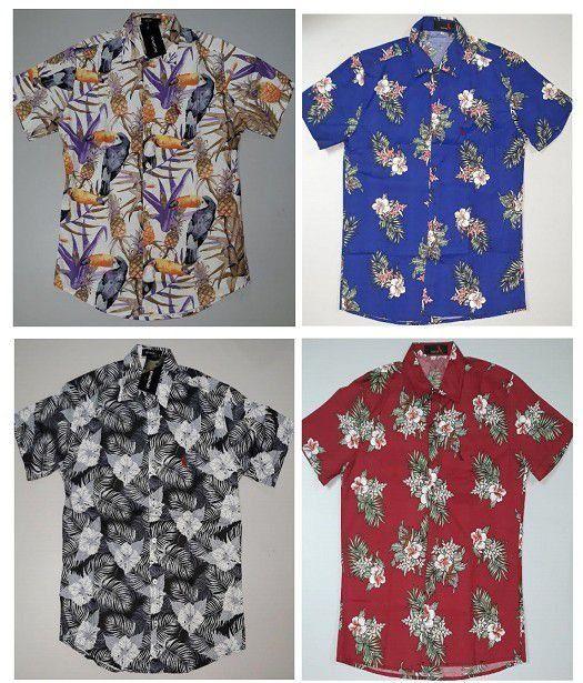 Tamanho Eua Impressão De Algodão De Manga Curta Casuais Camisas Aloha Hawaii Top Buy Havaí Top,Top De Manga Curta Havaí,Havaí Aloha Top Product on