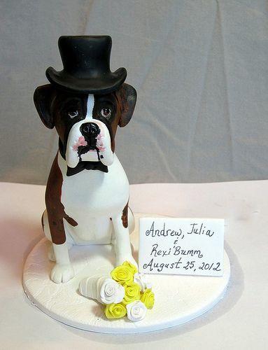 Dog cake art