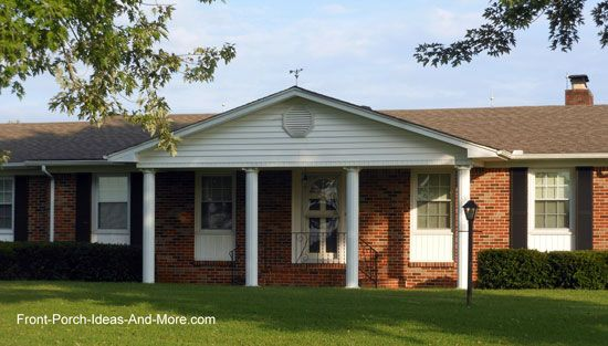Home brick ranch and porches on pinterest for Brick ranch home additions
