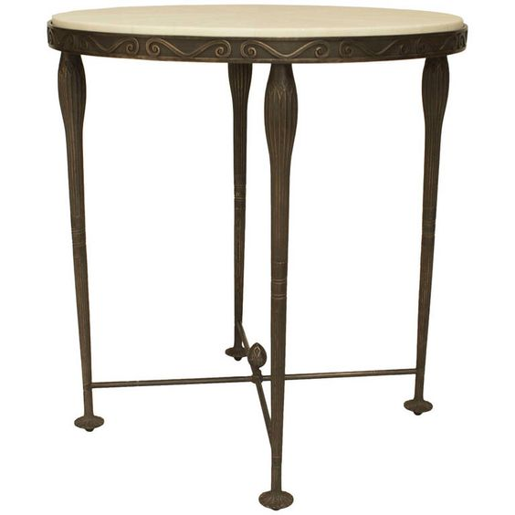 21st c. American Bronze and Shagreen End Table by Carole Gratale   From a unique collection of antique and modern end tables at https://www.1stdibs.com/furniture/tables/end-tables/