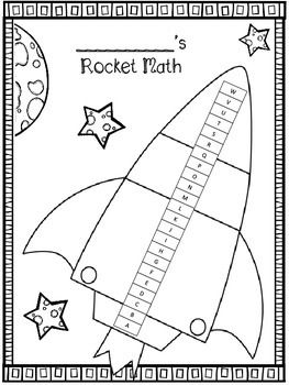 Printables Rocket Math Addition Worksheets student math and rocket on pinterest free score tracker sheet for students