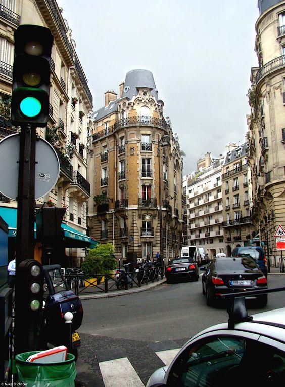 Haussmann Architecture in Paris, France.