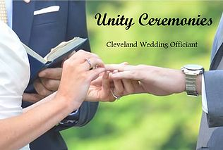 Wedding Officiant services in Northeast Ohio.