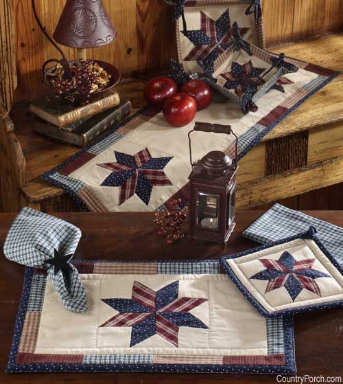 Quilted Star Kitchen Decorating Theme