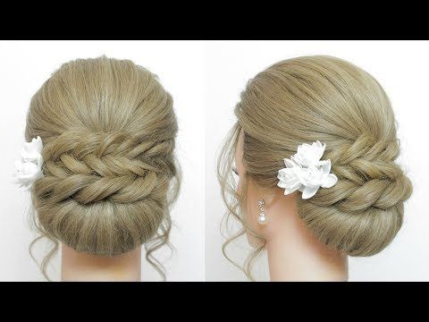 Updo Hairstyles Low Bun With Fishtail Braid And Twist Youtube Fish Tail Braid Easy Updo Hairstyles Hair Updos