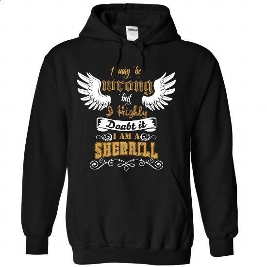 SHERRILL Tee - #inexpensive gift #shirt. GET YOURS => https://www.sunfrog.com/Funny/SHERRILL-Tee-2506-Black-Hoodie.html?id=60505