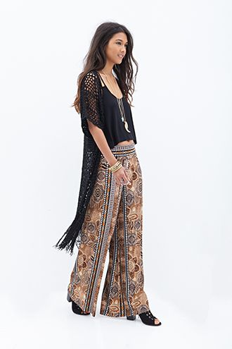 Abstract Printed Wide-Leg Pants | Forever 21 - 2052886624 $22.90