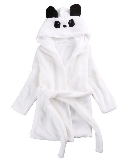 Toddler Kids Clothing Baby Girls Cute Cartoon Long Sleeve Hooded Robe Pajamas Sleepwear Bathrobe