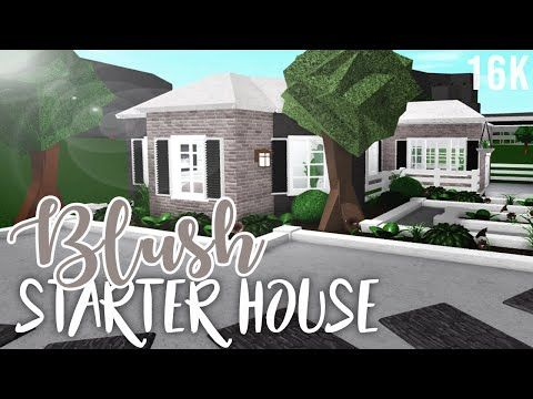Welcome To Bloxburg Blush Starter House 16k Starter Home Home Building Design One Story Homes