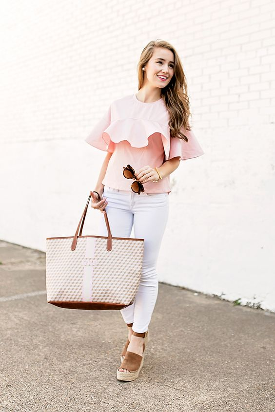 Pink Ruffle Top By Lonestar Southern