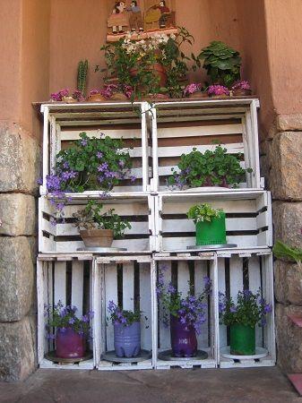Cajones estantes para macetas matas pinterest b squeda - Estantes para plantas ...