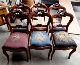 #6352 - 6 Victorian dining chairs