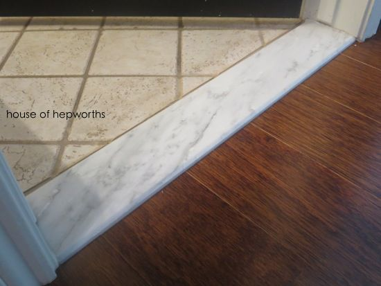 Marble Floor Saddle : Install marble thresholds leading into bathrooms