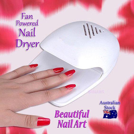 Funky Nail Dryer Fan Motif - Nail Art Design Ideas - thewowproject.info