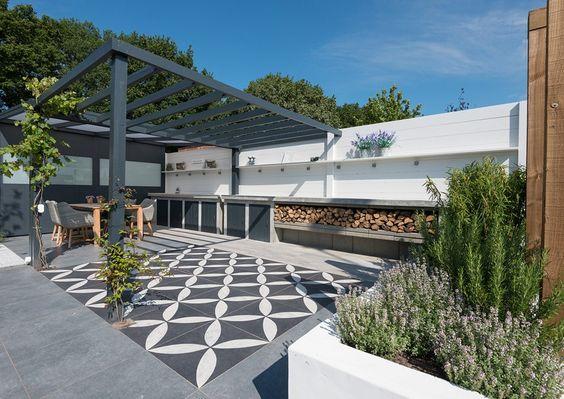 Binnen buiten tuin met vtwonen buitentegels ontwerp jacqueline volker lifestyle adviseur www - Buitentuin ontwerp ...