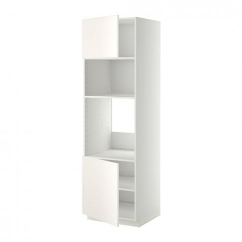Metod Arm Four Micro 2 Ptes Tabl Blanc Veddinge Blanc 60x60x200 For 17 Excellent Images De Colonne Cuisine Ikea