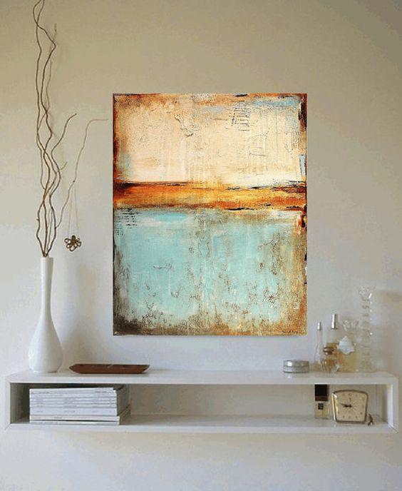 """40"""" Xxl große Gemälde Mischtechnik abstrakte Malerei Malerei Wandkunst von Jolina Anthony schneller und kostenloser Versand"""