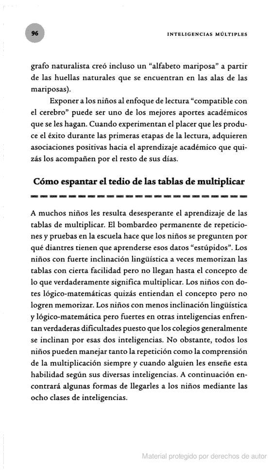 Inteligencias múltiples: cómo descubrirlas y estimularlas en sus hijos - Thomas Armstrong - Google Libros