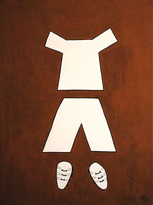 Junge, Acryl / LW, 120 x 90