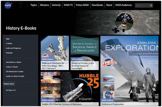 Descargá los ebooks gratuitos de la NASA sobre historia, ciencia, aeronáutica e investigación
